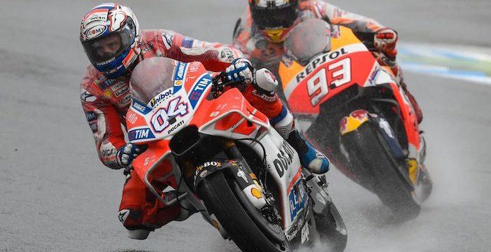 MotoGP: Marquez e Dovizioso si giocheranno il titolo iridato nelle ultime 3 gare