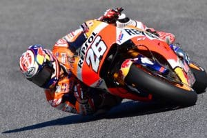 Pedrosa in sella alla Honda MotoGP