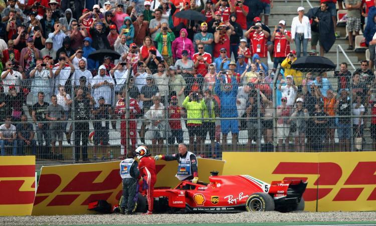 Sebastian Vettel fuori pista