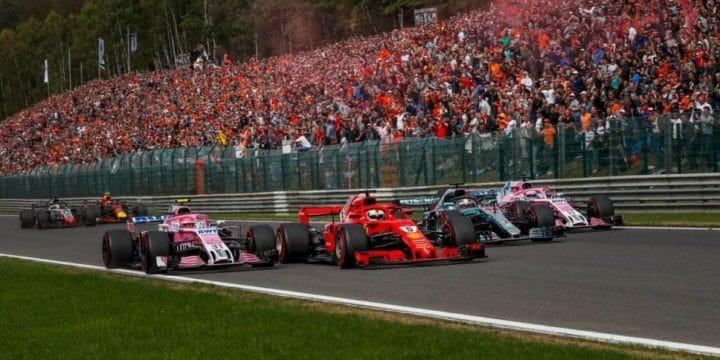 Formula 1: Sebastian Vettel domina il GP del Belgio. Alle sue spalle Hamilton e Verstappen