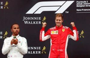 Vettel sul podio a Spa