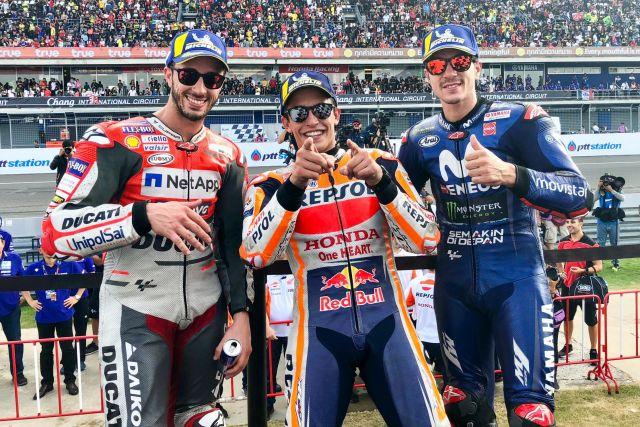 Il podio del GP di Thailandia