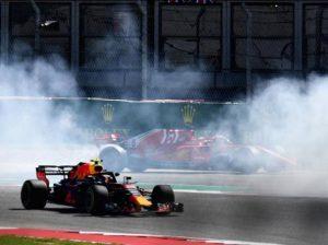 Contatto tra Vettel e Ricciardo a Austin