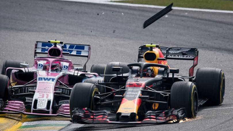 GP del Brasile: il contatto tra Verstappen ed Ocon