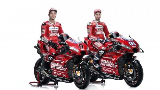 Presentata la Ducati GP19 con cui Dovizioso e Petrucci andranno a caccia del mondiale MotoGP