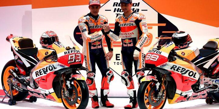 Svelata la Honda 2019 di MotoGP con cui Marquez e Lorenzo andranno a caccia del titolo