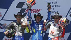 Il podio del GP delle Americhe