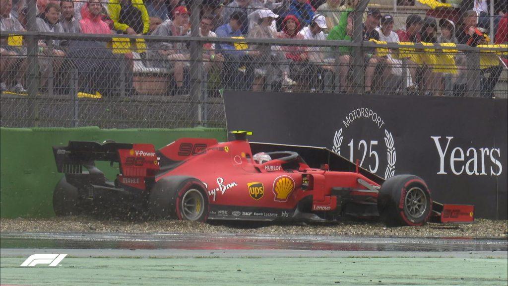 Leclerc finisce a muro