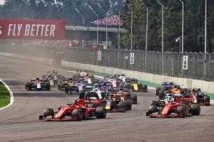 Il via del GP del Messico 2019